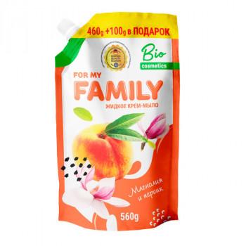 Жидкое мыло For my Family Магнолия и персик 721501 560 г