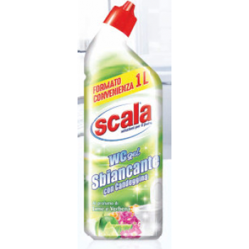 Гель для туалета с отбеливателем и ароматами лайма и вербены 1000 мл Scala WC gel Sbiancante 8006130504137