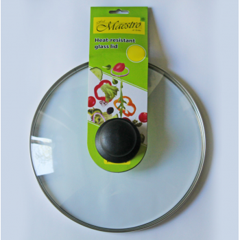 Cтеклянная жаропрочная крышка для сковороды Maestro MR-0024