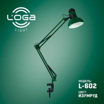 Лампа настольная со струбциной Loga L-602 (Изумруд)