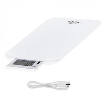 Весы кухонные Adler AD3167-white до 10 кг белые