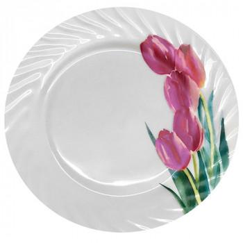 Десертная тарелка Stenson Тюльпаны MS-2067-2 18 см 205, да