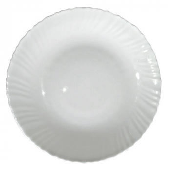 Блюдо десертное белое d=21,5см Snt 30071-00