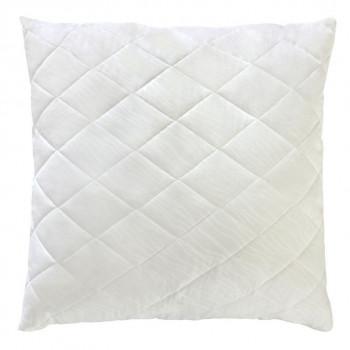 Белая стеганая подушка из силиконового волокна 70х70 T-51219