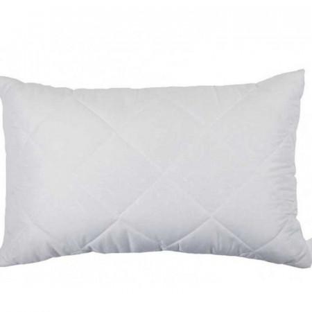 Белая стеганая подушка из бамбукового волокна на замке 50х70