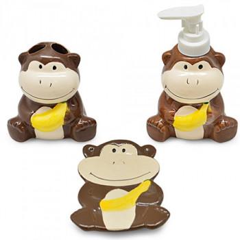 Набор аксессуаров для ванной Stenson Monkey R-30156 3 предмета