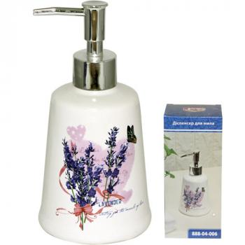 Диспенсер для мыла 5.5х17 см Лаванда Snt 888-04-006