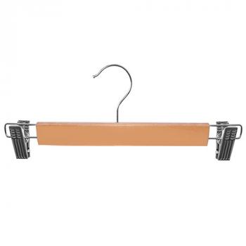 Вешалка для брюк с прищепками Stenson Wood 33 см R-85406 10 штук