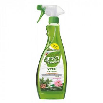 Гипоалергенное моющее средство для мытья стекла 750 мл Green emotion Vetri e Multiuso 8006130503802