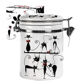 Емкость для сыпучих продуктов 1,2 л Черная кошка Snt 631-12