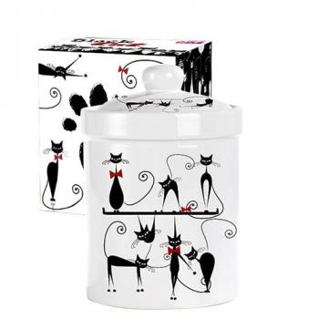 Емкость для сыпучих продуктов 990 мл Черная кошка Snt 6923-12